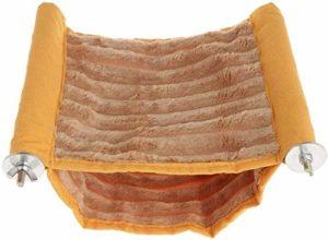 IMBM Hamac double couche à suspendre pour animal domestique, hamster, écureuil, chinchilla, cochon d'Inde, lapin grand