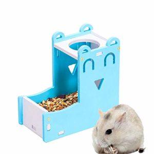 Xinllm Distributeur De Croquettes Distributeur Nourriture Lapin Lapin Alimentaire Bol Pet Fournitures Petits Animaux Petit Alimentation Animale Blue