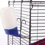 Cage De Hamster, Cage De Hamster en Acier Inoxydable, Convient Aux Hamsters, Rats Hollandais, Lapins, Poulets, Etc. 40 * 38 * 27Cm