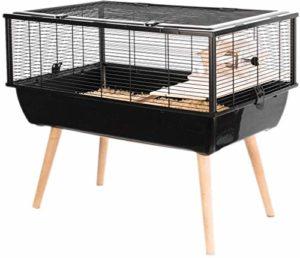 Cage Neo Nigha Petit Rongeur L 77.5 X P 47.5 X H 64.5 Cm Noire