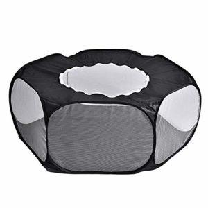 CHENJJ Cage pour petits animaux avec couverture supérieure respirante et pliable, clôture d'exercice pour l'extérieur et l'intérieur