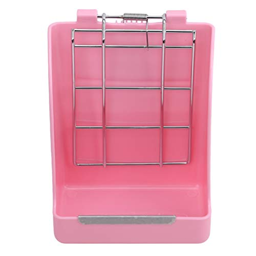 Flybloom Lapin Herbe Feeder Printemps Paille Cadre Herbe Petit Pet Cochon d'Inde Totoro Cage Accessoires (Rose)