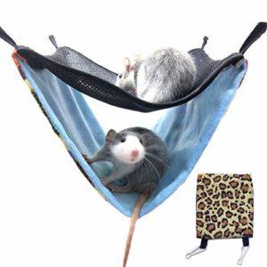 Generic Brands Hamac en coton double couche respirant à suspendre pour furet/écureuils/chinchillas/hamster/autres petits animaux