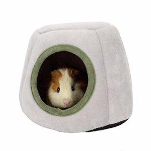 HanryDong Lit d'hiver Chaud pour Hamster en Coton Lavable en Machine pour Petits Animaux Gris Vert