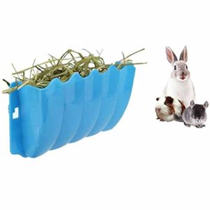 JKGHK Cochons d'Inde Ratelier À Foin Rabbit Feeder Rack Manger Rack Wall-Mounted for Small Animal, Furet