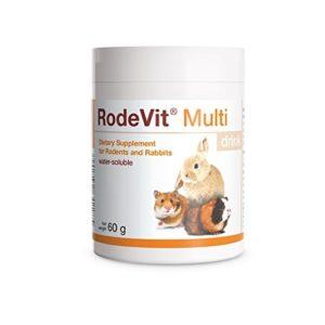 PETS Dolfos RodeVit Multi Drink 60g Hydrosoluble Supplément de Vitamines Minéraux pour Lapins et Rongeurs