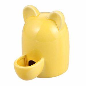 POPETPOP Bouteille d'eau pour hamster, cochon d'Inde, gamelle en céramique silencieuse automatique pour petits animaux domestiques, oiseau, hérisson, chinchilla, furet – 100 ml