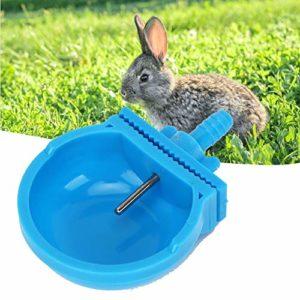 Qinlorgon Lapin Bol d'eau, 10 Ensembles Lapin Buveur Potable d'alimentation Bol De Ferme Ferme Cage Accessoires Fournitures pour Rongeur Animal