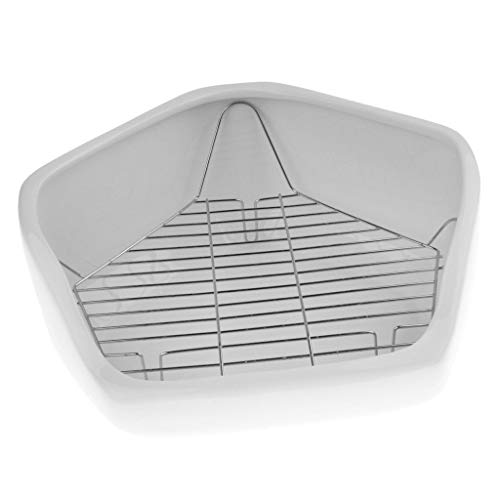 Tubayia Toilette d'angle pour Animaux de Compagnie pour Lapins, gerbilles, Hamster, Chinchilla etc.