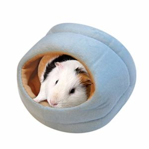 WeiCYN Nest Hamster Pet Lovely House Chaud Petit Animal Lit Mat Hamster Lapin Chinchilla Nest Pet Supplies (Color : Blue, Size : L)