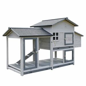 YCDJCS Cages et poulaillers Poulailler Lapin en Bois résistant aux intempéries Hutch Maison avec Enclos Lapin Hutch Maison Lapin de clôture des ménages élevage Cages Animaux
