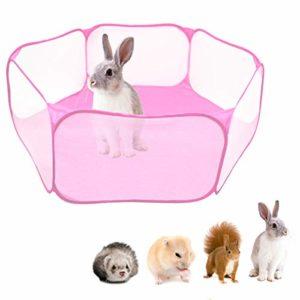 Yinuoday Parc pour Animaux de Compagnie Petits Animaux Parc Portable Pop up Intérieur Extérieur Petit Animal Cage Tente Clôture pour Hamster Chinchillas Et Cobayes