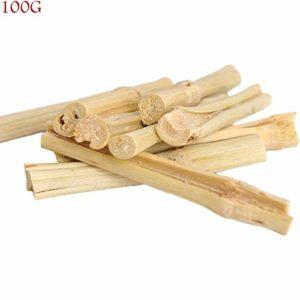 100g / 300g / 500g Petit bâton molaire pour Animaux de Compagnie Hamster rongeant Le Bambou Doux Ourson doré bâton d'herbe de Lapin(100g)