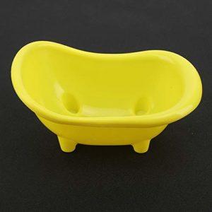 banapo Baignoire Ouverte pour Hamsters, réservoir en Plastique Jaune Beau réservoir pour Hamster Réservoir pour Petits Animaux, Petit réservoir de Nettoyage pour Hamsters