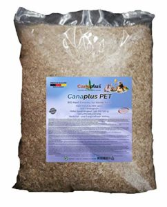 Canaplus Pet 12 litres – Litière pour Lapins Hamsters rongeurs en Chanvre, 100% Biologique, Haute capacité d'absorption, sans poussière nocive, idéal pour Les Animaux allergiques. Produit breveté.