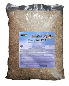 Canaplus Pet 48 litres – Litière pour Lapins Hamsters rongeurs en Chanvre, 100% Biologique, Haute capacité d'absorption, sans poussière nocive, idéal pour Les Animaux allergiques. Produit breveté.
