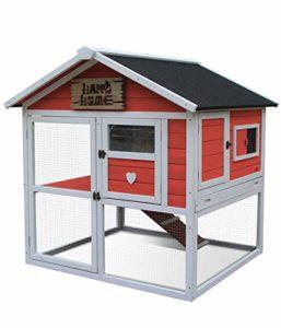 Dehner 4427738 Happy Home Palazzo Cage à rongeurs avec enclos Env. 108 x 103 x 106 cm, Bois de Sapin, Abricot/Blanc/Noir, 25300 g