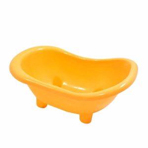 JKGHK Toilette Hamster Pet Hamster Baignoire Durable Cas de baignade pour Les Petits Hamster gerbilles et Les Petits Animaux Fournitures,Jaune