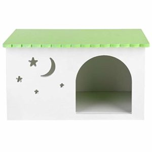 nobrands Hedgehog Cabin-Cobaye Lapin Nids House Pet Hedgehog Box Cage Green Cabin