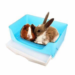 Oncpcare Bac à litière pour petits animaux, litière simple pour lapin, cochon d'Inde, chinchilla