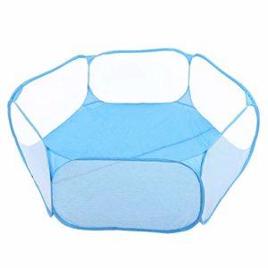 Zerodis Petit Parc Portable pour Animaux de Compagnie, Lapin Chiot Chinchillas hérissons Cage Tente chenil extérieur de clôture d'exercice(Bleu)