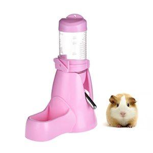 3en 1Petits Animaux Hamster Bouteille d'eau, bouteille d'eau Nourriture pour boire au biberon pour hamster, cochon d'inde, lapins, rats, furets, lapins, Nain, gerbille, chinchilla, 80ml
