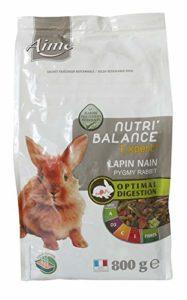Aime Nourriture Nutri'Balance Expert Lapin Nain 800 G pour Petits Animaux – Lot de 3