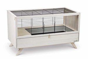 Beeztees K&Bz Cage pour Lapins pour intérieur Alby Blanc 120 420 g