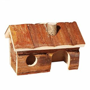 BESISOON Maison des Petits Animaux Maison en Bois Maison Rongeur Hamster Pet Home for Hamsters gerbilles Aucun étage Maison Rat (Color : Picture Color, Size : 20x13x13cm)