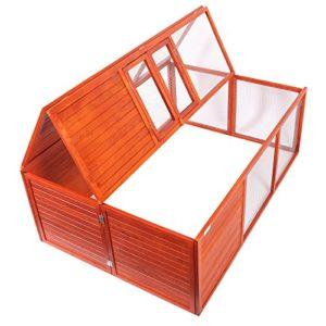 Enclos pliable pour petits animaux Cage de lapin Clapier Enclos extérieur
