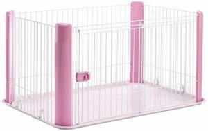 Iris Ohyama, parc pour chien / cage d'extérieur / enclos / chenil – Pet Circle – CLS-1130, plastique, rose, 9,2 kg, 78,8 x 113 x 60 cm
