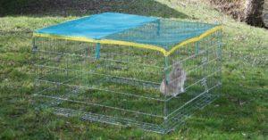 Kerbl Petits Animaux Enclos Extérieur avec Dispositif Anti-Fugue 115x115x65 cm