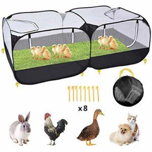 Parc pour animaux de compagnie Portable pour poulailler pour petits animaux Enclos pour animaux de compagnie en plein air Cage de poulet en plein air Cage de lapin Cage pour cochon d'Inde et cage