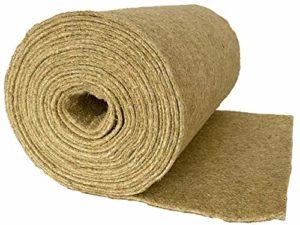 pemmiproducts Tapis 100% chanvre pour fond de cage de rongeur Vendu au mètre 0,60 m x 10,00 m x 0,5 cm