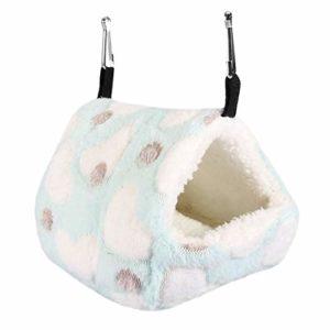 Rat Hamster Maison Lit d'hiver Chaud Petit Animal De Compagnie Écureuil Hérisson Chinchilla Lapin Guinée Maison Cage Nid(#2- Bleu)