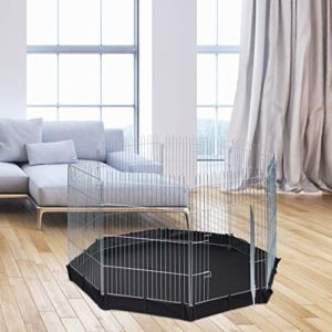 Relaxdays Enclos en Forme de Cochon d'Inde HBT Argenté 92 x 160 x 160 cm