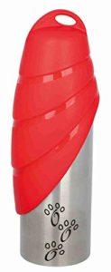 Trixie Gourde avec Écuelle Acier Inoxydable/Plastique 750 ml, Couleurs Assorties