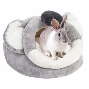URIJK Petit animal domestique en peluche chaude et chaude pour dormir, lit de bébé, accessoires pour lapin, hamster, cochon d'Inde, chinchilla