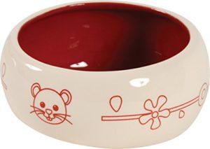 Zolux Écuelle Céramique Anti-Renversement pour Rongeur Rouge 700 ml