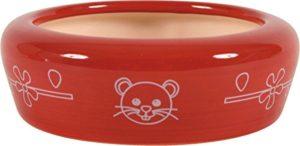 Zolux Écuelle Céramique pour Rongeur Rouge 700 ml