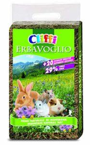 Cliffi Herbier Foin de Montagne pour Lapins et Petits rongeurs, Paquet de 4 x 2,5 kg