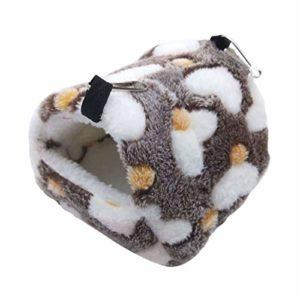 Dujie Hérisson pour petit animal domestique Cochon d'Inde Hamster Nid polaire Chaud Hiver écureuil Rat Hérisson Lapin Chinchilla Maison de lit Nid drôle et mignon (couleur : C)