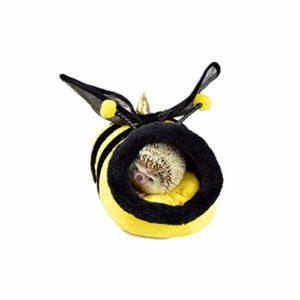 Hérisson pour animal domestique Lit hamster en peluche Cochon d'Inde, Hérisson lapins, rats hollandais, super mignon et mignon (couleur : guêpe, taille : 23 x 21 x 15 cm)