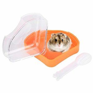 KSTE Sable Rongeur, Hamster Rongeur Sable Salle de Bains Grande Chambre Plastique Sauna Baignoire de Toilette