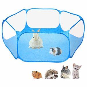 Tente de cage C & C pour petits animaux, barrière transparente pour exercice de parc pour animaux de compagnie, clôture de jardin portable pour cobaye, lapins, chinchillas et hérissons